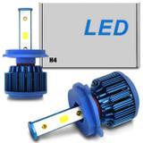 Par Lâmpadas Super LED 2D H4 6000K 12V e 24V 40W 8000LM Efeito Xênon Carro Moto Caminhão com Reator - Prime