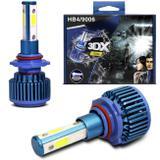 Par Lâmpadas Super LED 3D HB4 9006 8000K 40W 12V 6500LM Efeito Xênon Luz Branca Aplicação Farol - Pod1