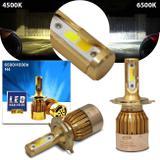 Par Lâmpadas Super LED Dual Color H4 4500K 6500K 36W 8000LM Duas Cores Luz Branca e Luz Amarela - H-tech