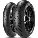 Par Pneu Cbr 1000 Rr Fireblade 190/50r17 + 120/70r17 Diablo Rosso II Pirelli - Pirelli moto