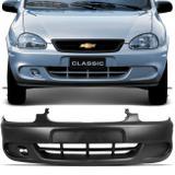 Para-Choque Dianteiro Corsa Hatch Pick UP 1999 A 2002 Classic 2000 a 2008 Wagon 2000 a 2002 Preto - Dts