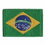 Patch Bordado - Bandeira Brasil Pequena BD50016-35G - Bandeiras