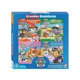 Paw patrol - grandes aventuras - kit com 4 - happy books