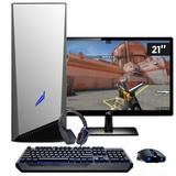 Pc Gamer Intel Core i5 8GB HD 1TB Geforce GTX 1050 DDR5 com Monitor 21,5 Full HD EasyPC