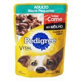Pedigree Sachê Carne ao Molho para Cães Adultos de Raças Pequenas 100g