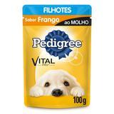 Pedigree Sachê Frango ao Molho para Cães Filhotes-100g
