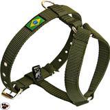 Peitoral de Passeio Para Cães Verde Militar - Amfpet