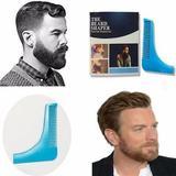 Pente régua modelador alinhador de barba e bigode barbeiro - Makeda