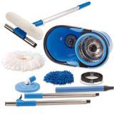 Perfect Mop 360  Cesto Inox Com 3 Refil Cabo 1,60 Mts e Rodo Limpa Vidros Cabo 50 cm - Vendasshop utensilios de limpeza