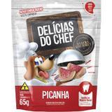 Petisco Snack Petitos Delicias do Chef Sabor Picanha para Cães