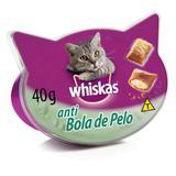 Petisco Whiskas Temptations Anti Bola De Pelo Para Gatos Adultos E Filhotes 40g - Pedigree