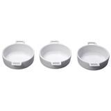 Petisqueira Com Alça 3 Peças 11,4x9x3cm Porcelana Bon Gourmet - Premier