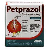 Petprazol 10mg Omeprazol Cães e Gatos 30 comprimidos - Vetnil