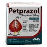 Petprazol 20mg Omeprazol Cães e Gatos 30 comprimidos - Vetnil