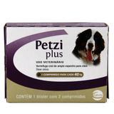 Petzi Plus 3,2g Vermífugo Cães 40kg 2 comp Ceva