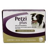 Petzi Plus 800mg Vermífugo Cães 10kg 4 comp Ceva
