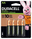Pilha Duracell Recarregável AA 4 unidades
