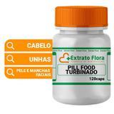 Pill Food Turbinado 120 Cápsulas - Extrato flora