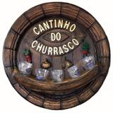 Pingometro - cantinho do churrasco - 5 copos - Retrofenna