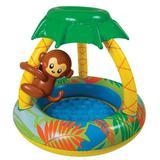 Piscina Inflável Infantil Com Cobertura Macaco 65 Litros - Jilong