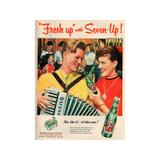 Placa 7up Fresh up With 7up Pequena - All classics