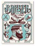Placa Barber Shop - Tecnolaser