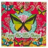 Placa Butterfly Pink Exclusivo Trevisan Concept 30cm x 30cm x 0cm