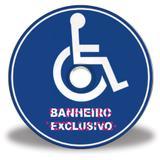 Placa de banheiro exclusivo para cadeirante em Braille - Tecnomidia
