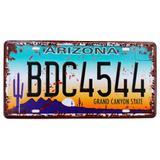 Placa De Carro Decorativa Em Alto Relevo Arizona - Versare anos dourados