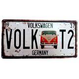 Placa De Carro Kombi Vw Germany - Versare anos dourados
