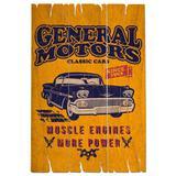 Placa De Madeira Bel Air Chevrolet Retrô - Versare anos dourados