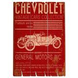 Placa De Madeira Calhambeque Chevrolet Retrô - Versare anos dourados