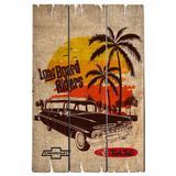 Placa De Madeira Fish Tail Chevrolet Retrô - Versare anos dourados