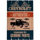Placa De Madeira Pick-up Truck Chevrolet Retrô - Versare anos dourados