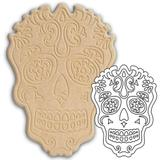 Placa de Madeira Recortada a Laser Pinta Fácil Brasil Caveira Mexicana Modelo 1 15 x 21 cm - CA011521 - Mad. pinta facil br