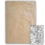 Placa de Madeira Recortada a Laser Pinta Fácil Brasil Quadro Mulheres 41 x 58 cm - QT134158 - Mad. pinta facil br