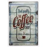 Placa de Metal The Coffee Shop Since 1954 - 30 x 20 cm - Yaay
