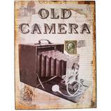 Placa De Metal Vintage Old Camera - Versare anos dourados