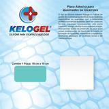 Placa de silicone para queimados e cicatrizes 10x10cm kelogel