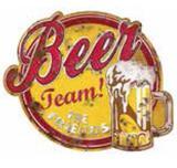 Placa Decorativa 24,5X19,5cm Beer Team! LPMC-050 - Litocart