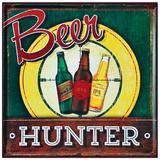 Placa Decorativa 25x25cm Beer Hunter LPQC-040- Litocart