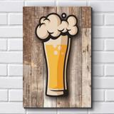 Placa Decorativa - Boteco - Cerveja P636 - R+ adesivos