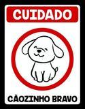 Placa Decorativa Cãozinho Bravo - Legiao nerd