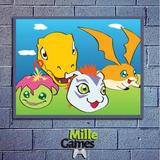 Placa Decorativa  Digimon - Mille