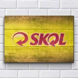 Placa Decorativa em MDF com 20x30cm - Modelo P221 - Skol - R+ adesivos