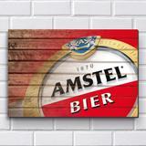 Placa Decorativa em MDF com 20x30cm - Modelo P492 - Cerveja Amstel - R+ adesivos