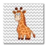 Placa Decorativa - Girafinha - Infantil - 1463plmk - Allodi