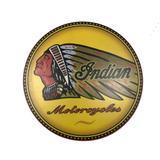 Placa Decorativa Madeira Amarela Logo Indian Grande 35x35x1 - Maisaz