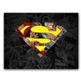 Placa Decorativa MDF Ambientes 20 cm x 30 cm - DC Super Homem (BD51) - Bd net collections