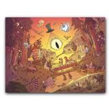 Placa Decorativa MDF Ambientes 20 cm x 30 cm - Gravity Falls (BD53) - Bd net collections